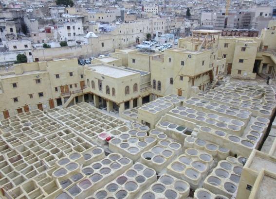 Moroccan Tannery (currently under renovation) La Belle Vue de La Tannerie, Fez.