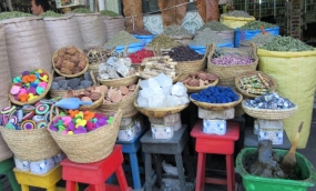 In the medina - herbs and spices. Marrakesh, Morocco