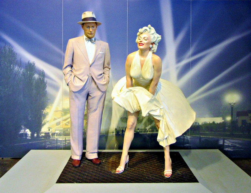 "A life-size Marilyn in an iconic scene from the movie , ""The Seven Year Itch."""