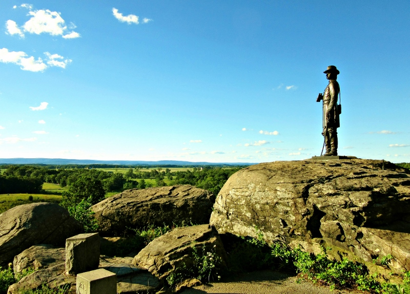 Gettysburg Battlefield monument, Pennsylvania. Photo by No Particular Place To Go