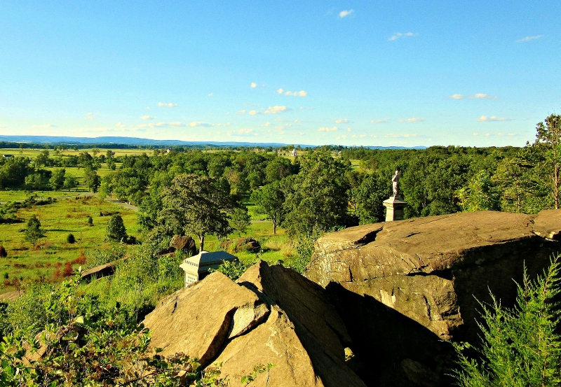 Gettysburg Battlefield monuments, Pennsylvania. Photo by No Particular Place To Go