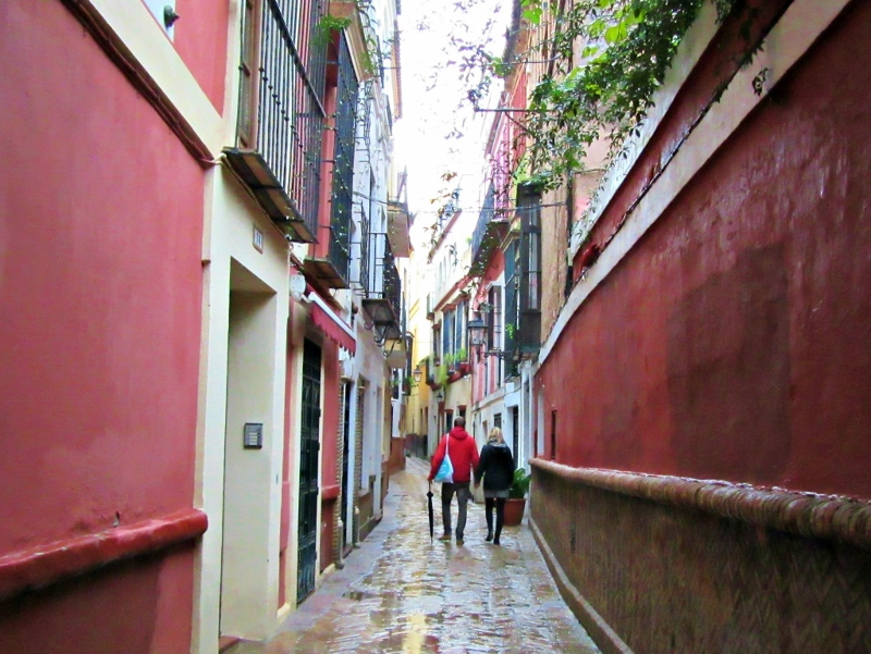 rainy day in Seville, Spain. Photo by No Particular Place To Go