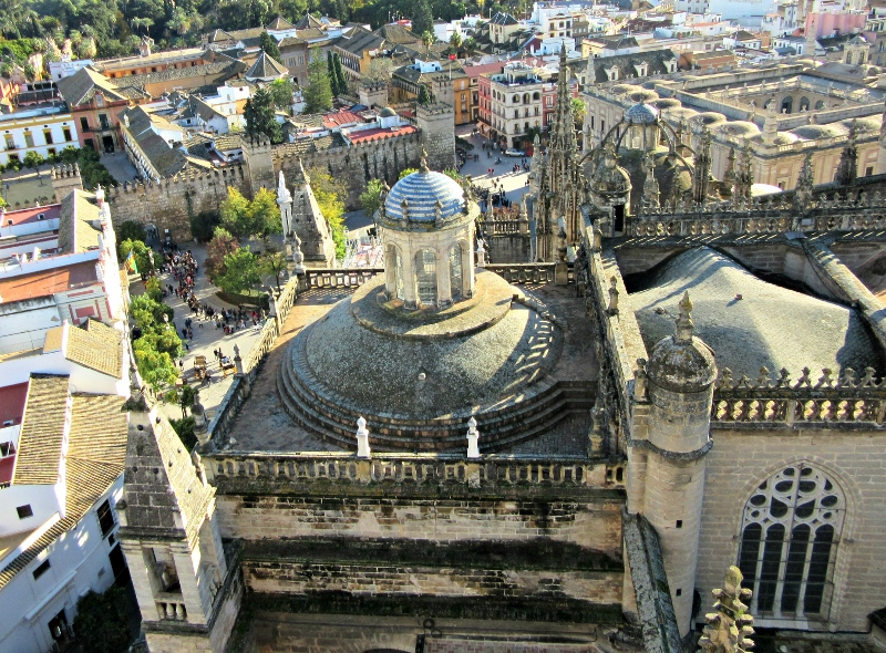 View from Giralda Tower - Cathedral of Saint Mary of the See. Photo by No Particular Place To Go