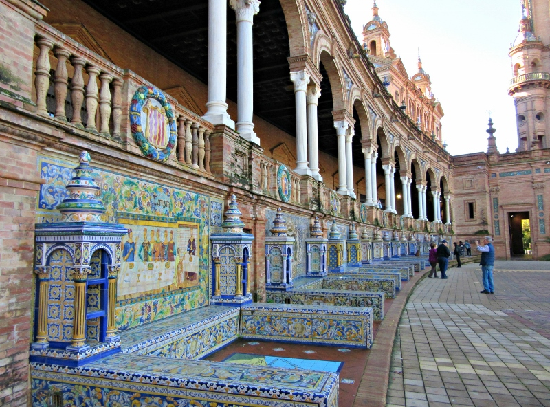 Plaza de Espana, Seville. Photo by No Particular Place To Go