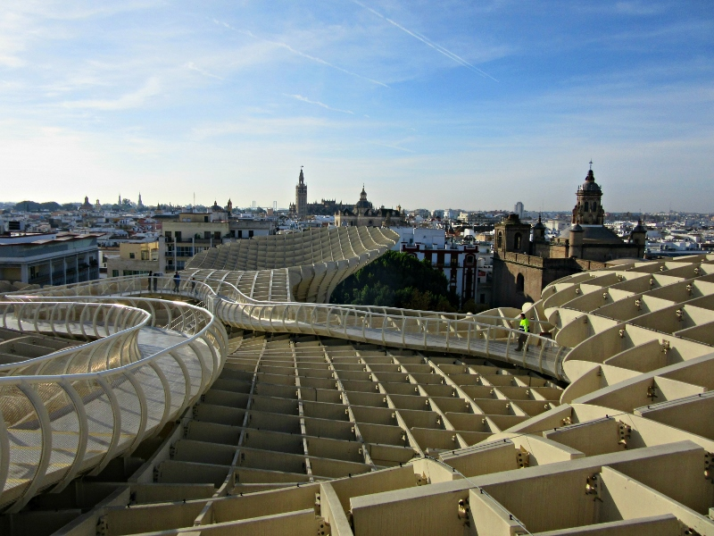 Views from the Metropol Parasol. Seville,Spain. Photo by No Particular Place To Go