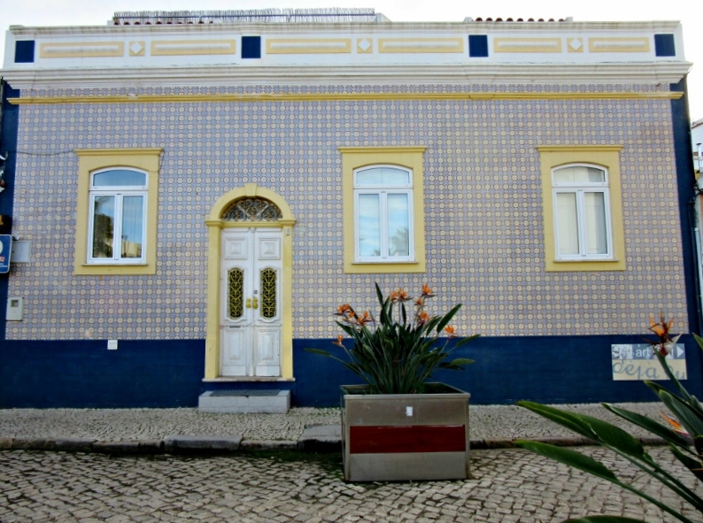 Tiled house, Ferragudo, Portugal. Photo by No Particular Place To Go