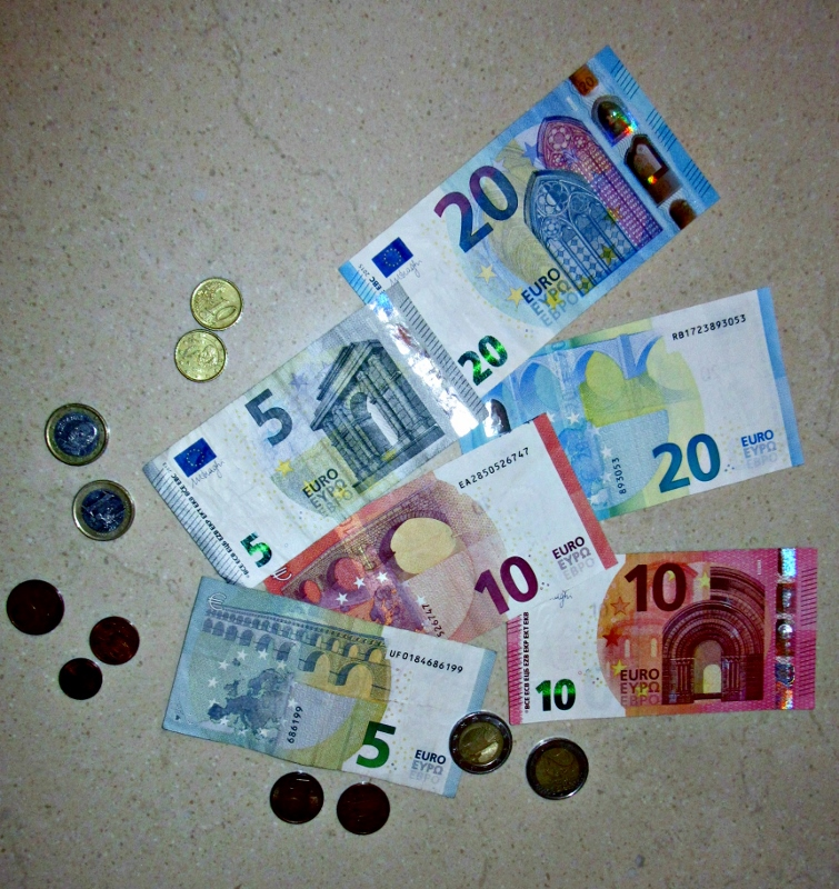 Euros. Photo by No Particular Place To Go