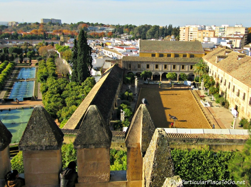 view from the Alcazar de los Reyes Cristianos, Cordoba, Spain