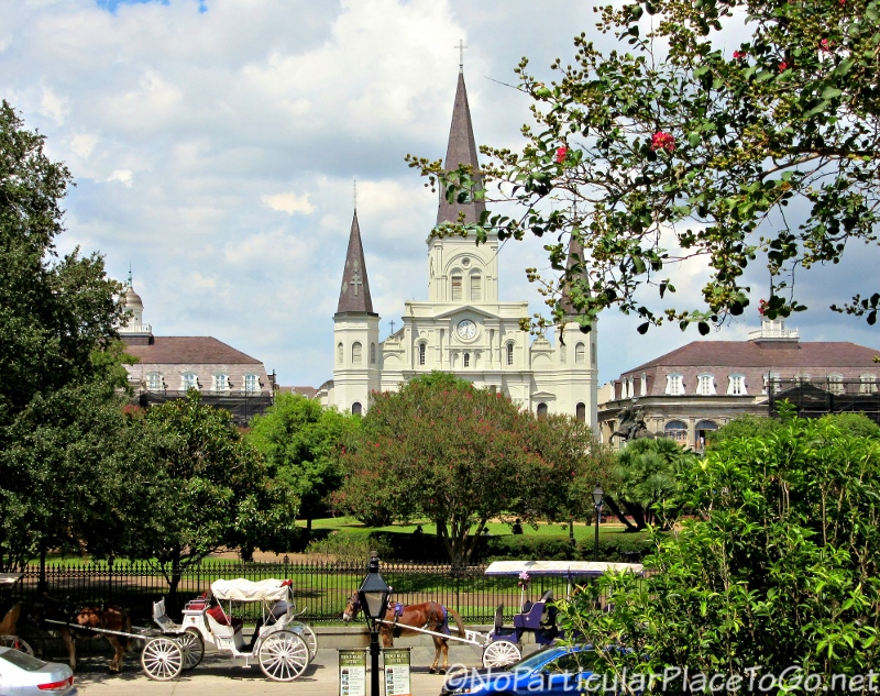 Jackson Square with St. Louis Cathedral in background, New Orleans